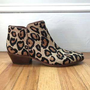 Sam Edelman Petty Western Ankle Booties in Leopard